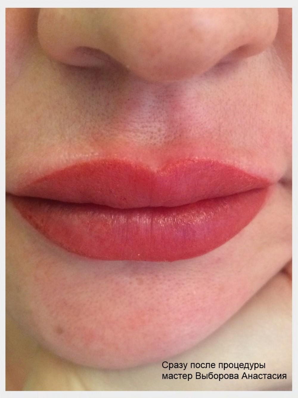 Перманентный макияж губ реальные