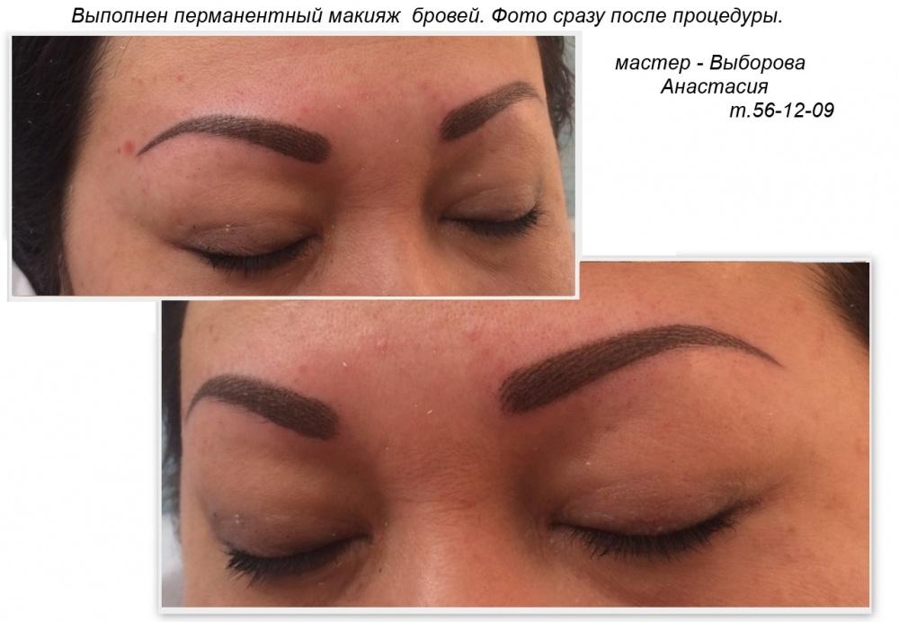 Перманентный макияж бровей разные брови